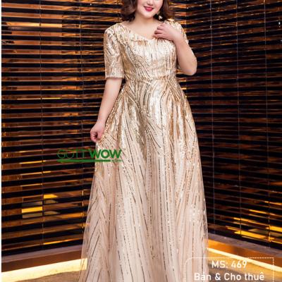đầm dạ hội vàng đồng
